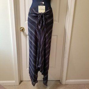 #906 NWT Lauren by Ralph Lauren Blue Stripe Skirt